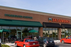 Commercial Awnings in Newark, DE over Starbucks and Saladworks