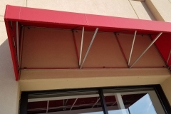 Commercial Awning in Red