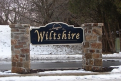 Wiltshire Carved Monument Sign in Wilmington, DE