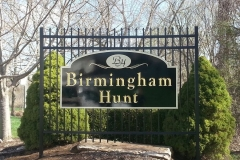 Birmingham Hunt Carved Sign