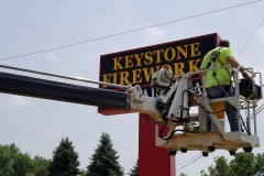 Installation of Pylon Signs in Boardman, OH