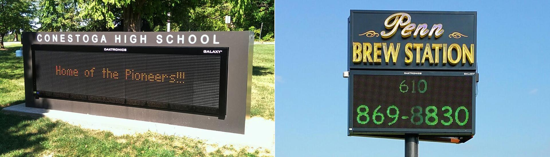 LED Sign Boards in Boardman, OH, Hermitage, Kennett Square, New Castle, PA, Newark, and Wilmington, DE